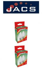 Eveready Led Candle 470LM Opal B22 (BC) Warm White, PACK OF 4