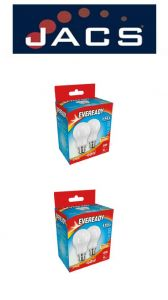 Eveready Led GLS 806LM B22 (BC) Warm White,Pack Of 4