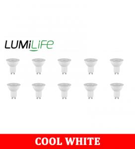 S16369 LumiLife 4.2W GU10 LED Spotlight - 345 Lumen - Cool White Pack of 10