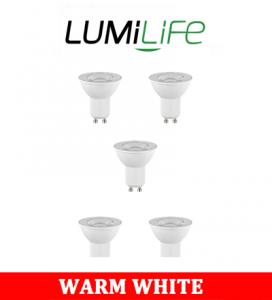 S16376 LumiLife 6W GU10 LED Spotlight - 500 Lumen - Warm White - Dimmable Pack of 10