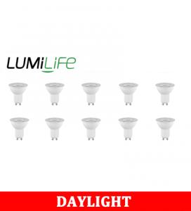 S16378 LumiLife 6W GU10 LED Spotlight - 500 Lumen - Daylight - Dimmable Pack of 10