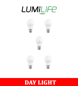 S16409 LumiLife 8.8W B22 (BC) GLS LED - 806 Lumen - Daylight - Dimmable Pack of 5