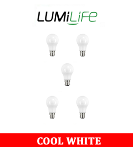 S16407 LumiLife 8.8W B22 (BC) GLS LED - 806 Lumen - Cool White - Dimmable Pack of 5