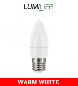 S16422 LumiLife 5W E14 (SES) Candle LED - 470 Lumen - Warm White - Dimmable