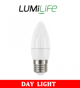 S16424 LumiLife 5W E14 (SES) Candle LED - 470 Lumen - Daylight - Dimmable