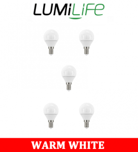 S16425 LumiLife 5W E14 (SES) Golf LED - 470 Lumen - Warm White - Dimmable Pack of 5