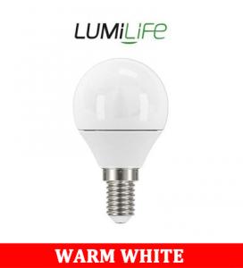 S16425 LumiLife 5W E14 (SES) Golf LED - 470 Lumen - Warm White - Dimmable