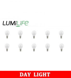 S16427 LumiLife 5W E14 (SES) Golf LED - 470 Lumen - Daylight - Dimmable Pack of 10