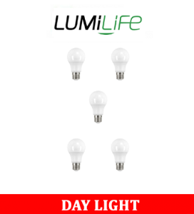 S16437 LumiLife 8.8W E27 (ES) GLS LED - 806 Lumen - Daylight - Dimmable Pack of 5