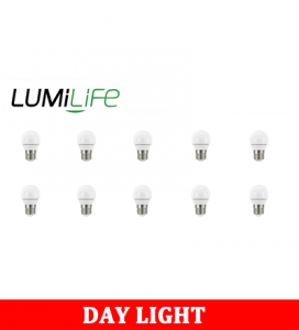 S16449 LumiLife 5W E27 (ES) Golf LED - 470 Lumen - Daylight - Dimmable Pack of 10