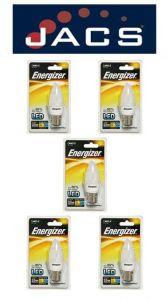 Energizer Led Candle 250LM 3.4W OPAL B22 (BC) Warm White, Pack Of 5