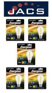 Energizer Filament Led GLS 806LM 6.2W B22 (BC) Warm White, Pack Of 5