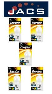 Energizer Led GLS 806LM 9.2W OPAL B22 (BC) Warm White Dimmable,Pack Of 5