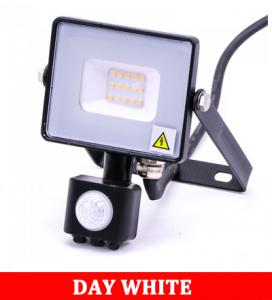 V-TAC -30-S 30W SMD Pir Sensor Floodlight With Samsung Chip Colorcode:4000K BLACK BODY GREY GLASS