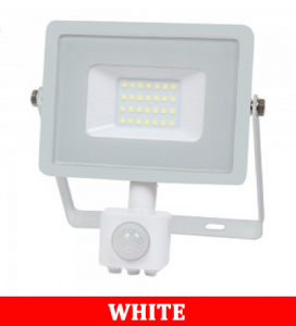 V-TAC -50-S 50W SMD Pir Sensor Floodlight With Samsung Chip Colorcode:6400K WHITE BODY WHITE GLASS