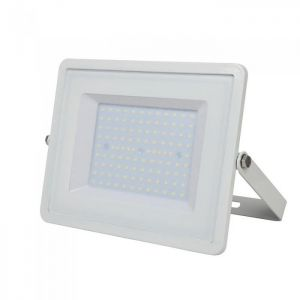 V-Tac 106 100w Smd Floodlight With Samsung Chip Colorcode:4000k WHITE Body Grey Glass (120lm/W)