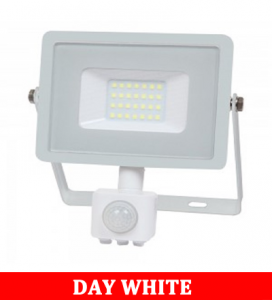 V-TAC -50-S 50W SMD Pir Sensor Floodlight With Samsung Chip Colorcode:4000K WHITE BODY WHITE GLASS