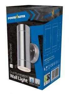 Powermaster Dual Illumination Wall Light - Stainless Steel